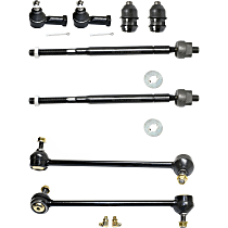 Tie Rod End - Front, Driver and Passenger Side, Inner and Outer, Set of 8