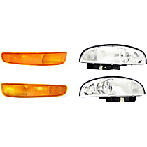 Replacement Headlight and Parking Light Kit - Driver and Passenger Side, DOT/SAE Compliant