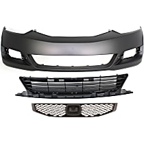 Bumper Cover - Front, Kit, Primed, For Coupe, Includes Center Bumper Grille and Grille
