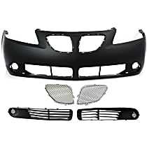Grille Insert - Paintable, Passenger Side, Upper, Inner, with Front Bumper Cover and Right and Left Fog Light Covers