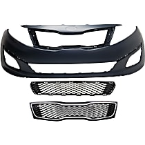 Grille Assembly - Black Shell and Insert, USA Built Vehicle, LX/Hybrid LX Models, with Front Bumper Cover and Front Bumper Grille, CAPA Certified