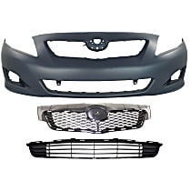 Grille Assembly - Textured Black Shell and Insert, North America Built Vehicle, with Front Bumper Cover and Front Bumper Grille