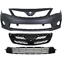 Replacement Bumper Cover, Bumper Grille and Grille Assembly Kit