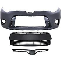 Grille Assembly - Textured Black Shell and Insert, CE/L/LE/LE Eco Models, with Front Bumper Cover and Front Bumper Grille
