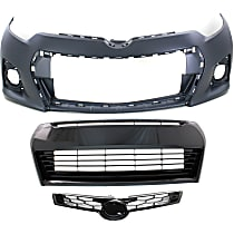 Grille Assembly - Painted Gray Shell and Insert, S/Special Edition Models, with Front Bumper Cover and Front Bumper Grille, CAPA Certified