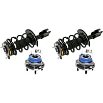 OE Replacement Front, Driver and Passenger Side Loaded Strut - Set of 4