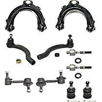 Control Arm - Front, Driver and Passenger Side, Upper, with Sway Bar Links, Lower Ball Joints, and Inner and Outer Tie Rod Ends