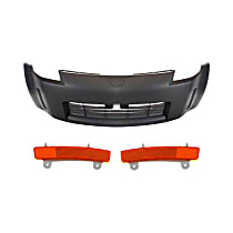 Replacement Bumper Cover and Bumper Reflector Kit - Without fog light holes