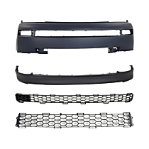 Grille Assembly, Valance and Bumper Cover Kit - Textured Black, Front
