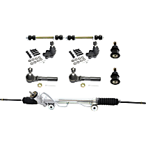 Steering Rack, Ball Joint, Tie Rod End and Sway Bar Link Kit