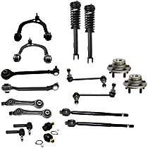 Ball Joint, Loaded Strut, Sway Bar Link, Wheel Hub, Tie Rod End and Control Arm Kit