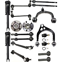 OE Replacement Front, Driver and Passenger Side Loaded Strut - Set of 18