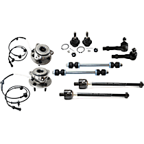 Ball Joint, Sway Bar Link, Wheel Hub and Tie Rod End Kit