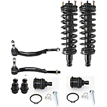 OE Replacement Front, Driver and Passenger Side Loaded Strut - Set of 5