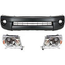 Replacement Headlight and Bumper Cover Kit