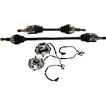 Axle Assembly - Front, Driver and Passenger Side, 3.3 Liter Engine, FWD, with Front Right and Left Wheel Hubs