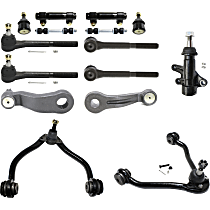 Idler Arm Bracket, Control Arm, Tie Rod Adjusting Sleeve, Tie Rod End, Ball Joint, Idler Arm, Pitman Arm and Sway Bar Link Kit