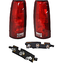 Tail Light Circuit Board - Driver and Passenger Side, Plastic, Direct Fit, Set of 4