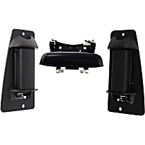 Tailgate Handle and Door Handle Kit - Without Keyhole, Textured Black, Plastic