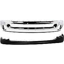 Replacement Bumper Cover and Bumper Kit - Without fog light holes