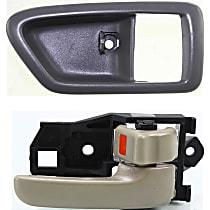Interior Door Handle and Door Handle Trim Kit - Front, Passenger Side, Gray