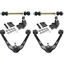 Control Arm - Front, Driver or Passenger Side, Upper, RWD, For Models with Front Coil Spring, with Sway Bar Links and Lower Ball Joints