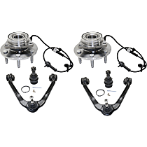 Replacement Ball Joint, Control Arm and Wheel Hub Kit