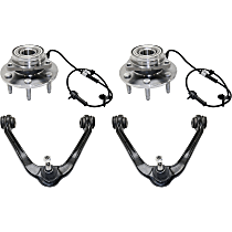 Control Arm - Front, Driver and Passenger Side, Upper, 4WD, with Front Hub Assemblies (6-Stud)