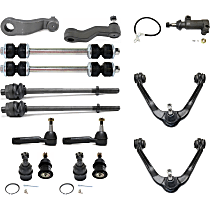 Replacement Tie Rod End, Ball Joint, Control Arm, Idler Arm, Idler Arm Bracket, Sway Bar Link and Pitman Arm Kit