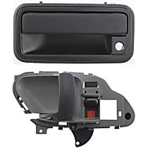 Interior Door Handle - Front, Driver Side, Gray, with Exterior Door Handle