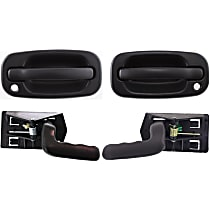 Interior Door Handle - Front, Driver and Passenger Side, Textured Black, with Exterior Door Handles (with Key Hole)