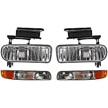 Replacement Parking Light and Fog Light Kit - Driver and Passenger Side, Direct Fit, DOT/SAE Compliant