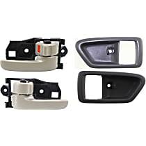 Interior Door Handle and Door Handle Trim Kit - Front, Driver and Passenger Side, Gray