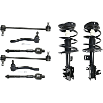 Shock Absorber and Strut Assembly, Tie Rod End and Sway Bar Link Kit