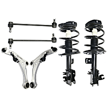 Replacement Shock Absorber and Strut Assembly, Control Arm and Sway Bar Link Kit