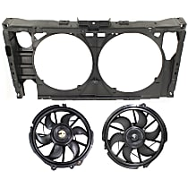 Radiator Support - Assembly, with Right and Left Cooling Fan Assemblies