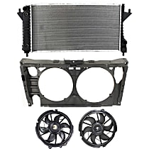 Radiator Support - Assembly, with Radiator and Right and Left Cooling Fan Assemblies