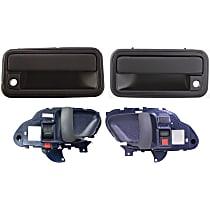 Interior Door Handle - Front, Driver and Passenger Side, Blue, with Exterior Door Handles