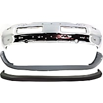 Bumper - Front, Chrome, with Upper and Lower Bumper Covers