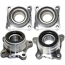 Front and Rear, Driver and Passenger Side Wheel Hub and Bearing Assembly
