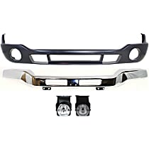 Replacement Bumper Cover, Bumper and Fog Light Kit