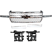 Replacement Headlight Bracket, Grille Trim, Grille Assembly Kit