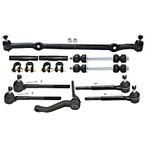 Replacement Tie Rod Adjusting Sleeve, Sway Bar Link, Center Link, Tie Rod End and Idler Arm Kit