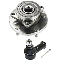 Front, Driver or Passenger Side Wheel Hub Bearing included - Set of 2