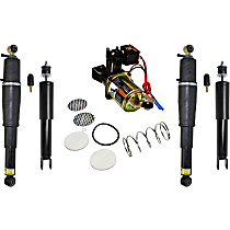 OE Replacement Front, Driver and Passenger Side Shock Absorber - Set of 5