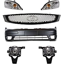 Headlight, Bumper Cover, Grille Assembly and Fog Light Kit - Front, DOT/SAE Compliant