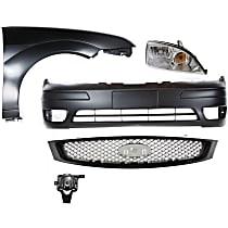 Headlight, Bumper Cover, Grille Assembly, Fog Light and Fender Kit - Front, DOT/SAE Compliant