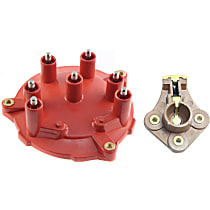 Distributor Cap - Red, Direct Fit, Set of 2