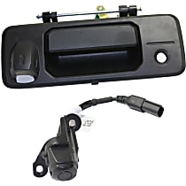 Tailgate Handle - Textured Black, with Back Up Camera