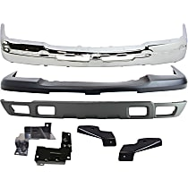 Replacement Bumper Cover, Bumper, Bumper Bracket and Valance Kit